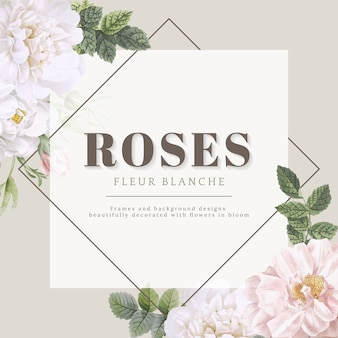 Rozen fleur blanche kaart ontwerp