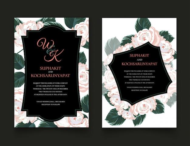 Rozen frame voor uitnodigingskaarten en afbeeldingen.