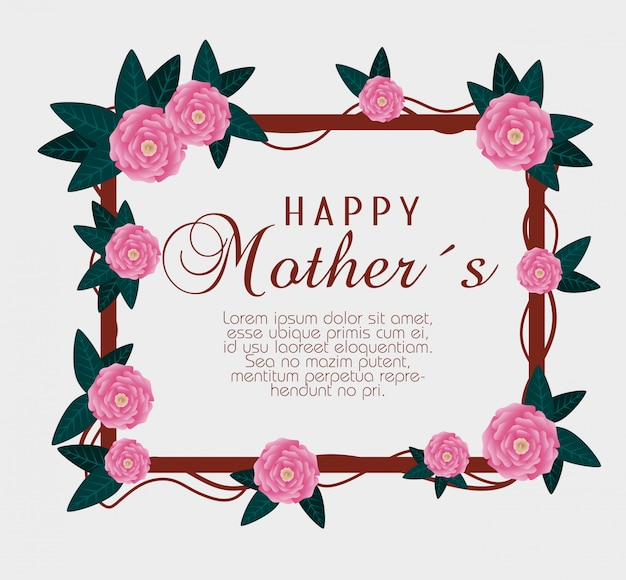 Rozen met takkenbladeren aan moedersviering