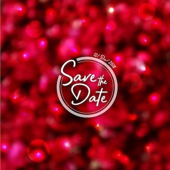 Rozenblaadjes bruiloft uitnodiging achtergrond