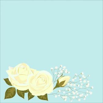 Rozenbloemen met een ontloken knop