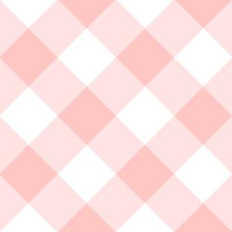 Rozenkwarts witte diamant schaakbord achtergrond