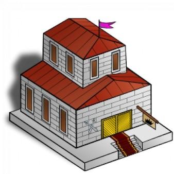 Rpg kaart symbolen: het gemeentehuis