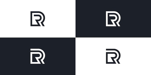 Rr letter eerste logo vector pictogram illustratie