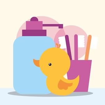 Rubber duck toy dispenser vloeibare zeep