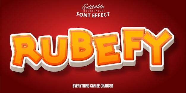 Rubefy-tekst, 3d bewerkbaar lettertype-effect
