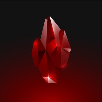 Ruby crystal edelsteen
