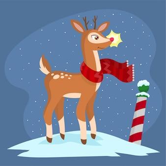 Rudolph het rendier in noordpool