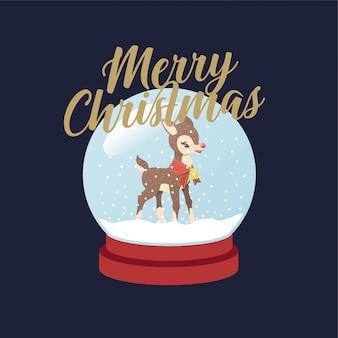 Rudolph snowglobe kerst