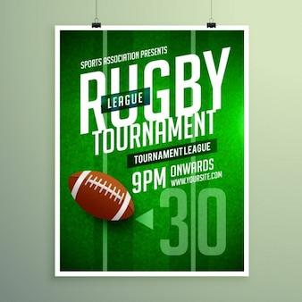 Rugby competitiewedstrijd flyer