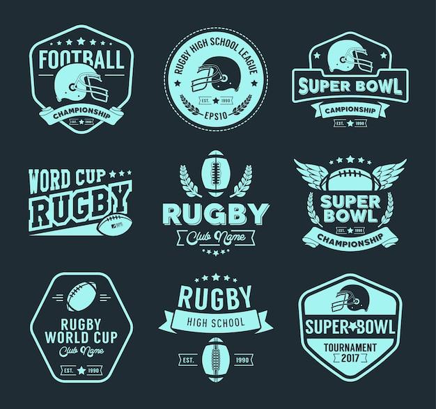 Rugby insignes en labels collectie