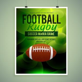 Rugby kampioenschap flyer template
