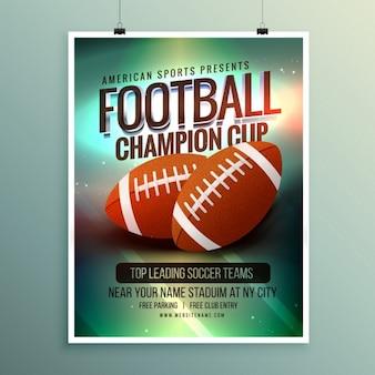 Rugby kampioenschap kop flyer template