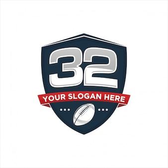 Rugby logo ontwerp