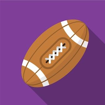 Rugby platte pictogram illustratie geïsoleerde vector teken symbool