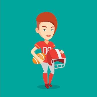 Rugby speler vectorillustratie.