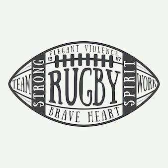 Rugby typografie