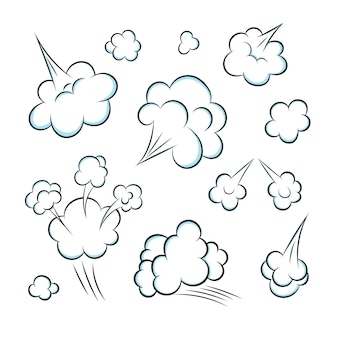 Ruiken popart stripboek cartoon scheet wolk vlakke stijl ontwerp vectorillustratie