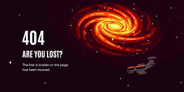 Ruimte achtergrond. foutmelding 404