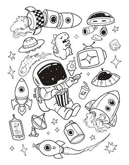Ruimte doodles