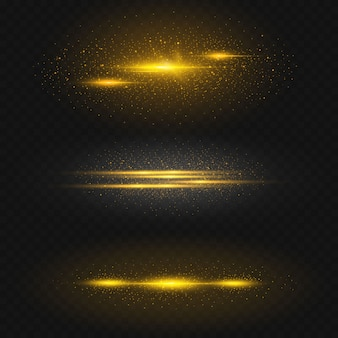 Ruimte-effect goudkleurig