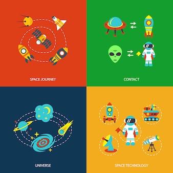 Ruimte elementen infographics