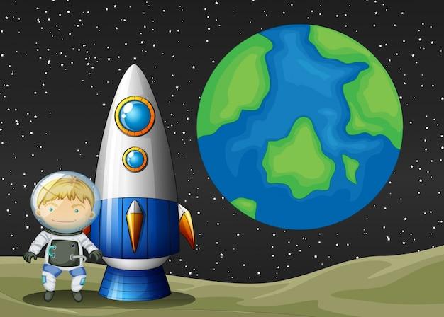 Ruimte en astronaunt