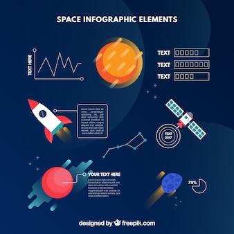 Ruimte infografische elementen