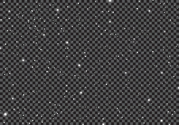 Ruimte met sterren universum op transparante achtergrond.