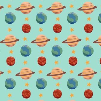 Ruimte planeet patroon sjabloon