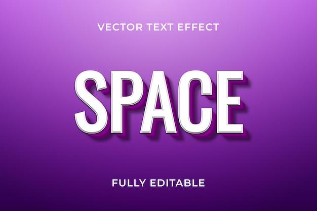 Ruimte teksteffect
