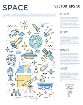 Ruimte verticale infographic
