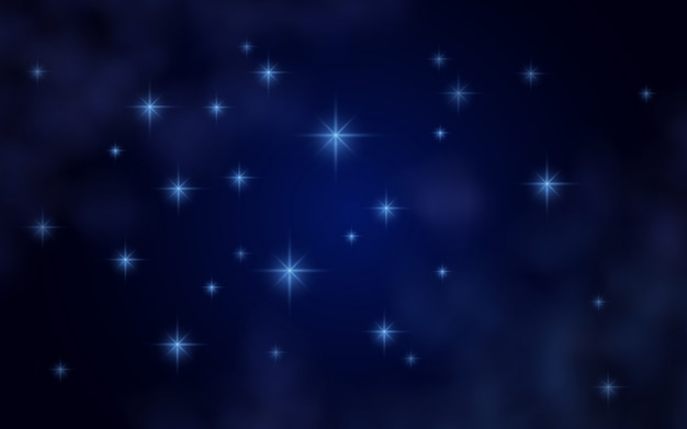 Ruimteachtergrond met sterren en nevel