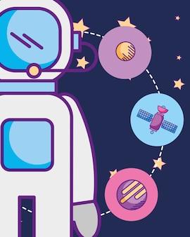 Ruimtemelkweg kosmische kaart