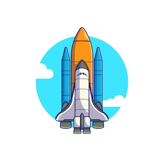 Ruimtependel vliegend vectorillustratieontwerp