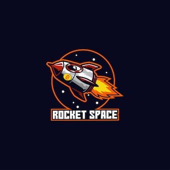 Ruimteschip raket vliegen astronaut planeet kosmos snelheid