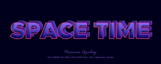 Ruimtetijd 3d-effect stijl lettertype