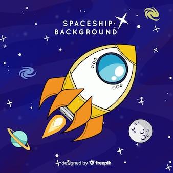 Ruimtevaartuigachtergrond