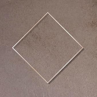Ruit gouden frame op bruine achtergrond vector