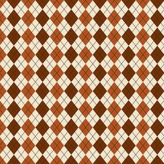 Ruit patroon over beige achtergrond vectorillustratie
