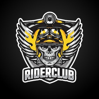 Ruiters mascotte esport logo ontwerp