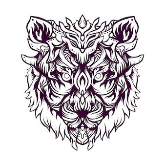 Ruma de illustratie van de tijgerjager