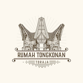 Rumah tongkonan toraja indonesië