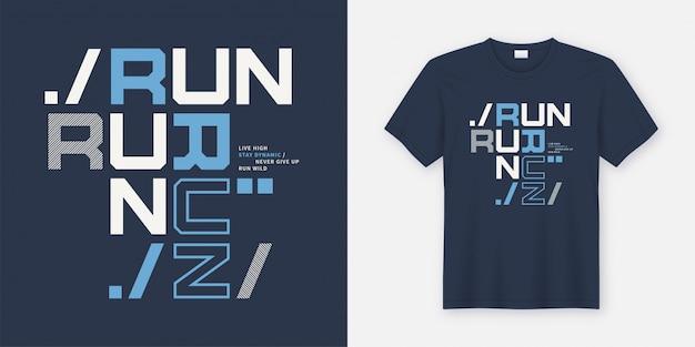 Run wild t-shirt en kleding moderne poster.