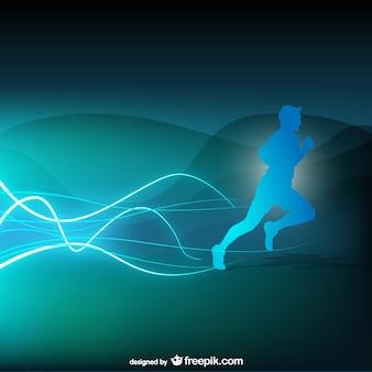 Runner vector abstracte achtergrond