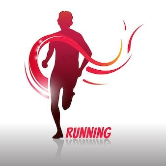 Running man logo en symbool