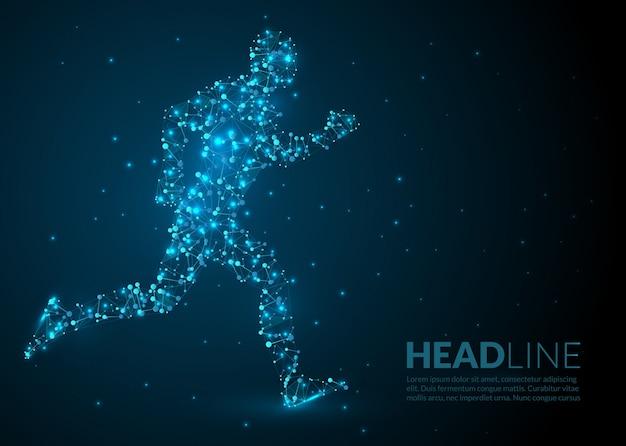 Running man scientific illustration