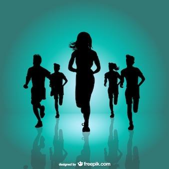 Running marathon achtergrond