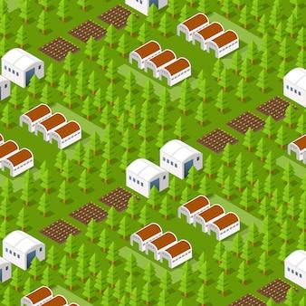 Rural isometric natural