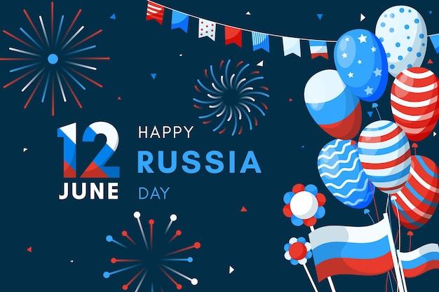 Rusland dag achtergrond met ballonnen concept